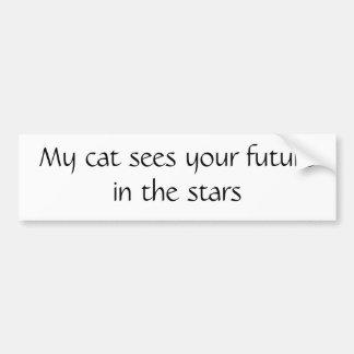 私の猫は星のあなたの未来を見ます バンパーステッカー
