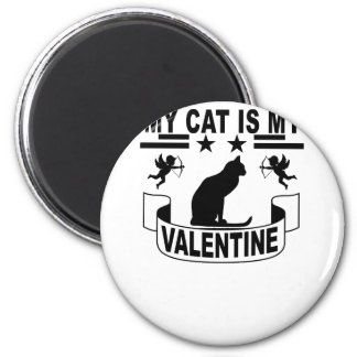 私の猫は私のバレンタインです。 マグネット