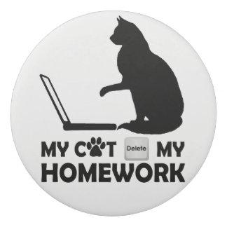 私の猫は私の宿題を削除しました 消しゴム
