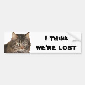 私の猫は私達を失った考えます バンパーステッカー