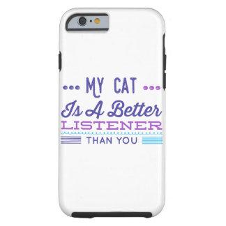 """""""私の猫よりよい傾聴者""""は堅い場合です ケース"""