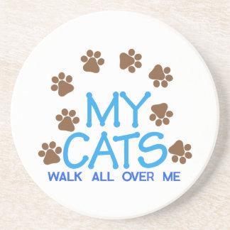 私の猫歩行 コースター