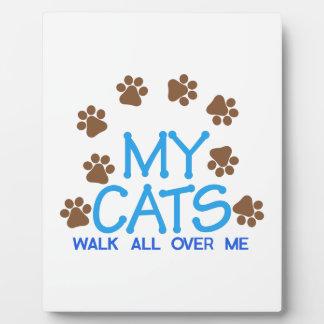 私の猫歩行 フォトプラーク