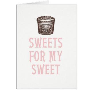 私の甘いバレンタインデーカードのための菓子 カード