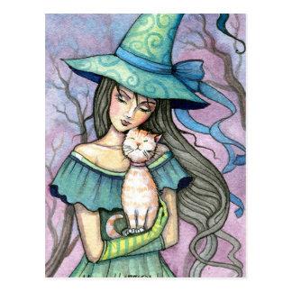私の甘い虎猫の魔法使い猫の郵便はがき ポストカード