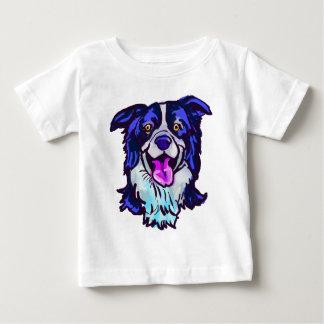 私の生命の幸せなボーダーコリー愛 ベビーTシャツ