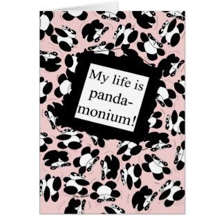 私の生命はパンダmonium -ピンクです カード