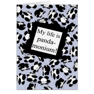 私の生命はパンダmonium -青です カード