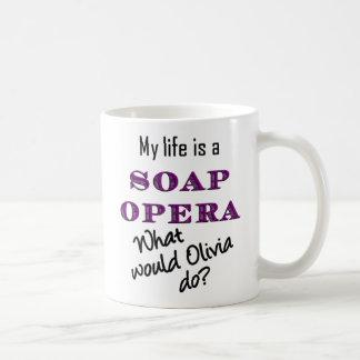 私の生命はメロドラマです: オリビアのマグ コーヒーマグカップ