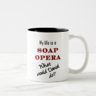 私の生命はメロドラマのダニエルのマグです ツートーンマグカップ