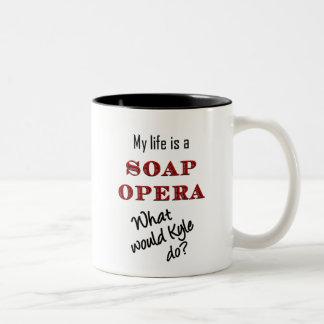 私の生命はメロドラマのKyleのマグです ツートーンマグカップ
