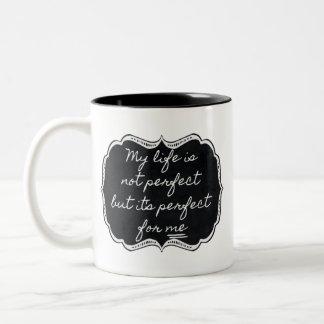 私の生命は私のために完全マグです ツートーンマグカップ