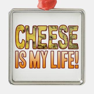 私の生命ブルーチーズはあります メタルオーナメント