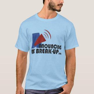 私の破壊の人の青いTシャツの発表 Tシャツ