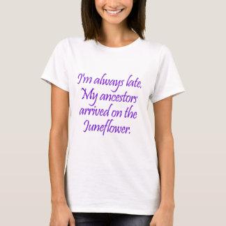 私の祖先はJuneflowerにやって来ました Tシャツ