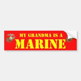 私の祖母は海兵隊員です バンパーステッカー