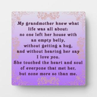 私の祖母 フォトプラーク