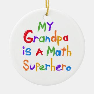 私の祖父の数学のスーパーヒーローのTシャツおよびギフト セラミックオーナメント