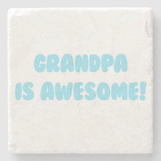 私の祖父は青で素晴らしいです ストーンコースター