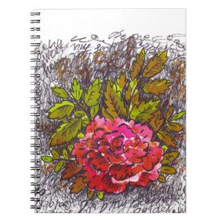 私の秘密ばら色日記のノートのオフィス ノートブック