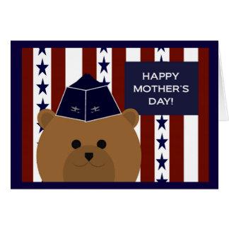 私の空軍お母さん及び英雄への幸せな母の日! カード
