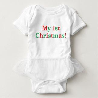 私の第1クリスマス! ベビーボディスーツ