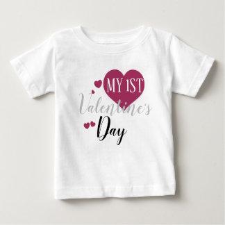 私の第1バレンタインデーのワイシャツ ベビーTシャツ