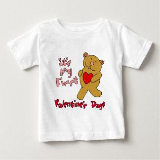 私の第1バレンタインデー ベビーTシャツ