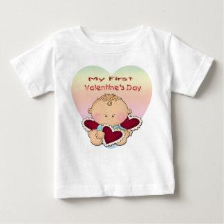 私の第1バレンタインデー(男の子)の幼児Tシャツ ベビーTシャツ