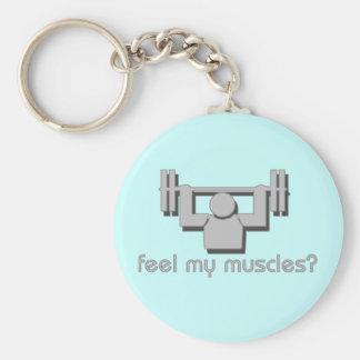 私の筋肉を感じて下さい キーホルダー