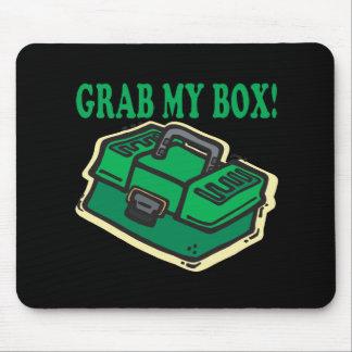私の箱をつかんで下さい マウスパッド