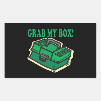 私の箱をつかんで下さい 長方形シール