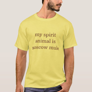 私の精神動物はモスクワのラバです Tシャツ