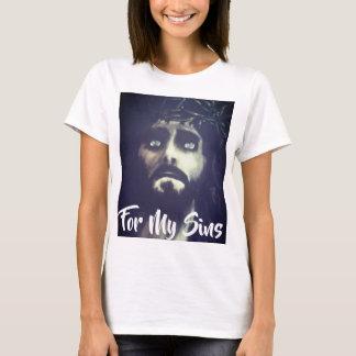 私の罪-イエス・キリスト-のためTシャツ Tシャツ