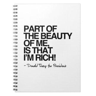 私の美しいは-ドナルド・トランプ私が豊富であることです ノートブック