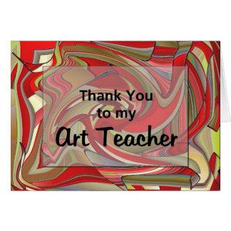 私の美術教師にありがとう カード