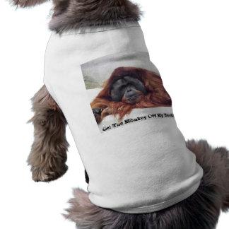 私の背部を離れて猿を得て下さい ペット服