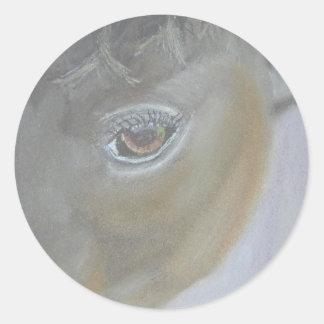 私の自我-馬の絵画--を後押しして下さい ラウンドシール