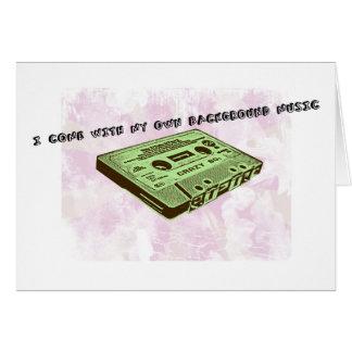 私の自身のバックグラウンド・ミュージックと来られるI グリーティングカード