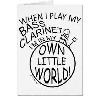 私の自身の小さい世界のバスクラリネット カード