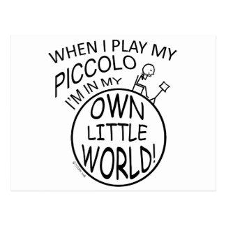 私の自身の小さい世界のピッコロ ポストカード