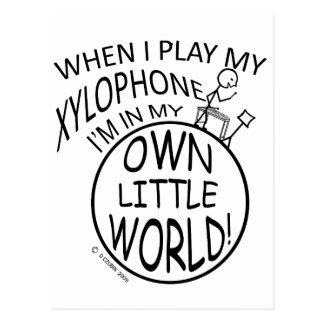 私の自身の小さい世界の木琴 ポストカード