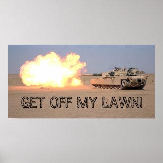 私の芝生を離れて得て下さい! ポスター