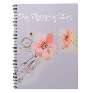 私の花のかわいいショッピングのノート ノートブック