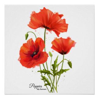 私の花のケシ ポスター