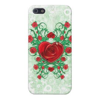 私の花のハート iPhone 5 カバー