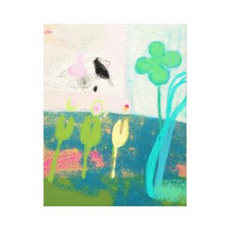 私の花園の抽象的概念 キャンバスプリント