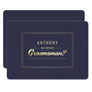 私の花婿の付添人ですか。 カスタムな招待状 カード