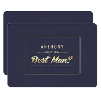 私の花婿介添人ですか。 カスタムな招待状 カード