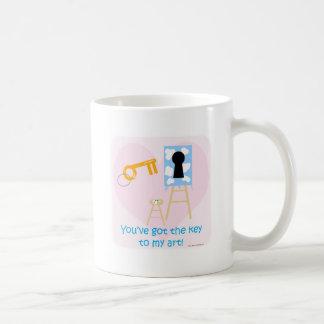 私の芸術の発言への鍵 コーヒーマグカップ